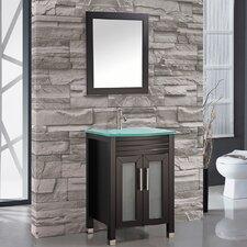 "Figi 24"" Single Sink Bathroom Vanity Set with Mirror"