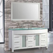 """Figi 63"""" Double Sink Bathroom Vanity Set with Mirrors"""