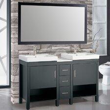 """Belarus I 60"""" Double Sink Bathroom Vanity Set with Mirror"""