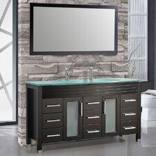 "Figi 71"" Double Sink Bathroom Vanity Set with Mirror"