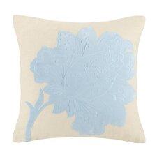 Vanderbilt Flower Hooked Wool Throw Pillow