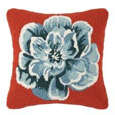 Vanderbilt Flower Applique Wool Throw Pillow