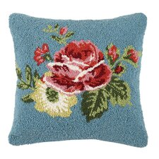 Vanderbilt Floral Hooked Wool Throw Pillow