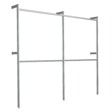 "Relax 88""H x 100"" W x 12"" D Commercial Use Garment Rack"