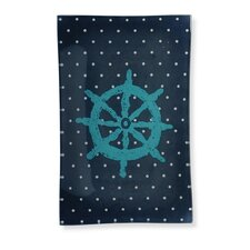 """Ship Wheel 8.75"""" Rectangle Tempered Plate (Set of 2)"""
