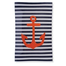 """Anchor 8.75"""" Rectangle Tempered Plate (Set of 2)"""