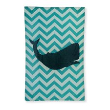 """Whale 8.75"""" Rectangle Tempered Plate (Set of 2)"""