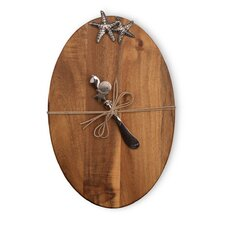 Wood Cheese Board with Spreader