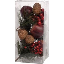 Red Berries and Pinecones Decorative Vase Filler