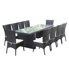 Rattano 11 Piece Dining Set
