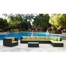 Garden 7 Piece Sectional Seating Group with Cushions