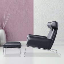 Big Lounge Chair and Ottoman Set