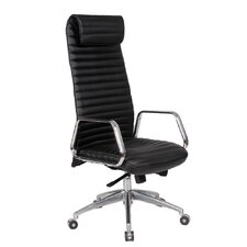 Ox High-Back Leather Office Chair with Arms