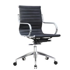 Twist High-Back Leather Office Chair