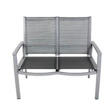 2-Sitzer Gartenbank aus Aluminium
