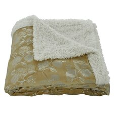 Noble House Garden Sherpa Throw Blanket