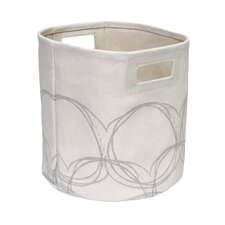 Canvas Laundry Natural Circles Hamper