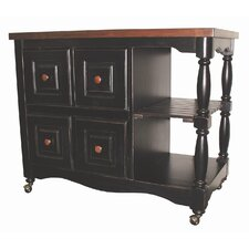 Sunset Selections Kitchen Island with Butcher Block