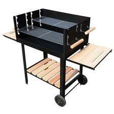 Charcoal Barbecue with Side Shelf