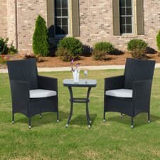 2 Seater Bistro Set with Cushions