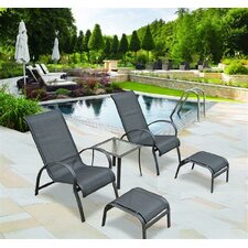 5 Piece Sun Lounger Set