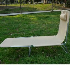 Garden Lounger with Headrest
