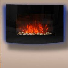 Curved Glass Electric Fireplace