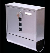 Letterbox with Lock and Newspaper Holder