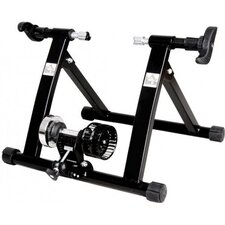 Foldable Indoor Bicycle Bike Turbo Trainer in Black