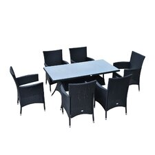 Outsunny 6 Seater Dining Set with Cushions
