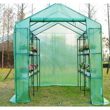 Outsunny 6 Ft. W x 8 Ft. D Cold Frame Greenhouse