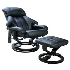 Luxury Electric Massage Recliner and Footstool