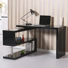 Executive Desk with Bookcase and Bookshelf Divider