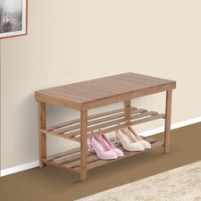 Bamboo Shoe Storage Hallway Bench