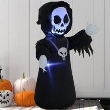 Skull Ghost Scary Inflatable Halloween Decoration
