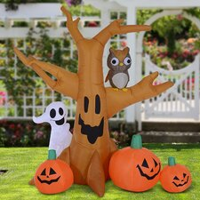 Large Scary Inflatable Tree Ghost Halloween Decoration