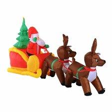 Inflatable Santa Claus Sledge Sleigh with Reindeer