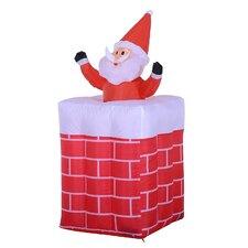Santa Claus Chimney Inflatable Holiday Decoration