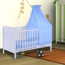 Wooden Baby Cot Set with Mattress