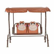 Kids Monkey Print 2 Seater Swing Set