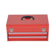 Portable Metal Top Chest Storage Cabinet Handle Drawer Workshop Organiser Toolbox