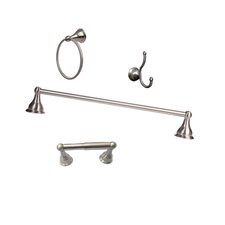 Summit 4 Piece Wall Mounted Bathroom Hardware Set