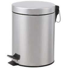 2 Piece Round Step Lid Trash Can Set