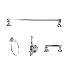 Highlander 4 Piece Wall Mounted Bathroom Hardware Set
