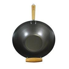 35 cm Antihafter Wok aus Karbonstahl