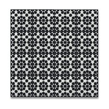 """Ahfir 8"""" x 8"""" Cement Tile in Black and White"""