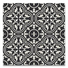"Casa 8"" x 8"" Handmade Cement Tile in Black and White"