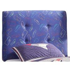 Twin Upholstered Headboard in Blue