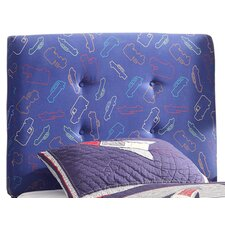 Twin Upholstered Headboard in Blue