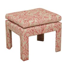 Coral Upholstered Decorative Bench